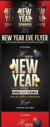New Years Eve Psd Flyer by Hotpindesigns