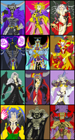 FF VILLIANS COLLAGE I-XII by MobianMonster