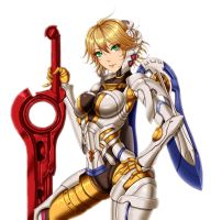 Xenoblade Chronicles - M-Fiora by iforher