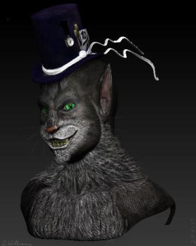 Humanoid Cheshire Cat- ZBrush by BetterTheDevilUKnow
