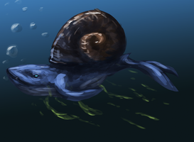 SnailWhale by Mossasaurus