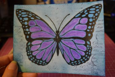 Butterfly Postcard by evilpokejuggalette