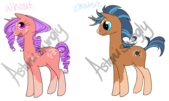 $9 MLP ADOPTABLES: unicorn siblings by Astonishingly