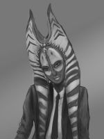 Shaak ti in a suit by Montano-Fausto