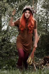 Huntress In The Woods   by Bellastanyer-STOCK