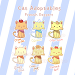 [Adoptable] French Desserts Cats (closed) by tamaneko-i-b