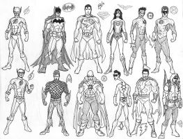 The Justice League by kyomusha