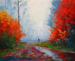 Wet Autumn Day by artsaus