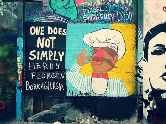 Swedish chef graffiti one does not simply by janina