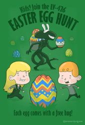 A Xenomorph Easter Special by annamariajung