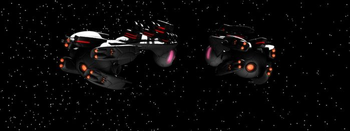 Farscape background ships [closer look #1] by TodayV4