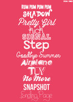 f(x) typography - pink tape {second album} by mayradias