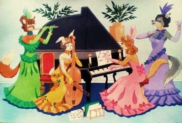 Musical Ladies by FlapperFoxy