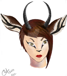 Giselle the Gazelle by Sk8r-Chick