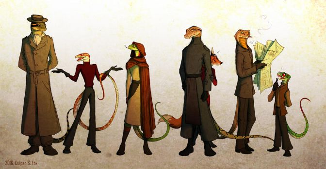 Snake Society by Culpeo-Fox