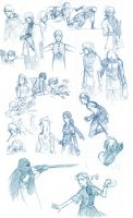 Suikoden Fansketches. by neener-nina
