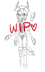 Spider Babe WIP #2 by SimplyDefault