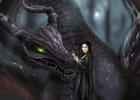 Maleficent and Lily by Mark35950