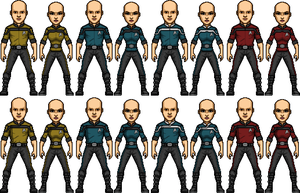 Star Trek Temporal Castaways Uniform Templates by SpiderTrekfan616
