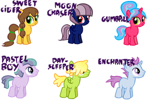 Foals Adoptables -CLOSED- by BronyBase