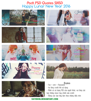 Pack PSD SNSD Quotes (STOP SHARE) by GatoKun
