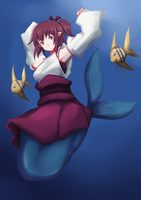 Miko of the Sea, Kikio by Twinhound