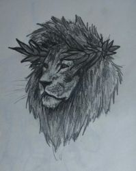 Lion - greek god sketch by ShioBRain