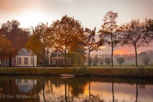 Vecht sunset by EricForFriends