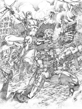 Commission Cable and DeadPool JL 2016 by JoseLuisarts