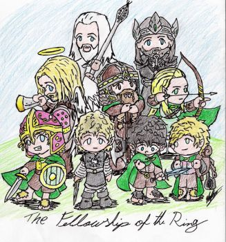 Fellowship of the chibi-ring by Spirogs