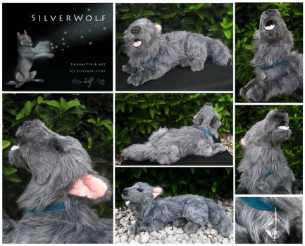 Silver Wolf - Plush by Starcanis