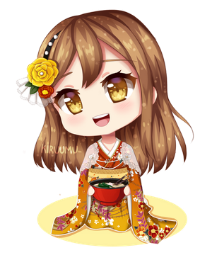 New Year's Hanamaru by Kiruumu