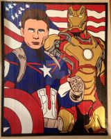 Captain America Civil War Duct Tape Art by DuctTapeDesigns