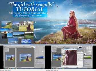 The girl with seagulls Tutorial by TatyanaChe