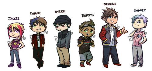 OC: Chibi group by Mad-Mustache