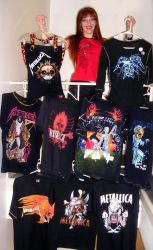 Sofia Goldberg and Metallica shirts collection by SOFIAMETALQUEEN