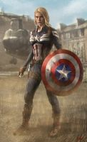 Captain America in Key Frame by WeaponMassCreation