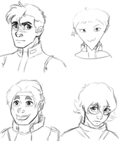 Voltron Sketches by CloudDoodle
