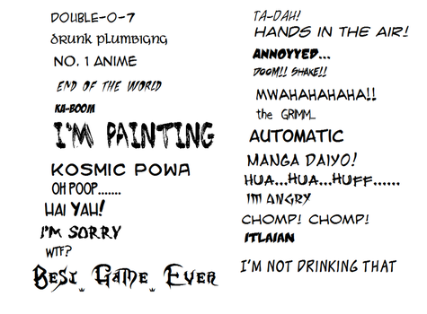 The Font Game... by Ayaka1232