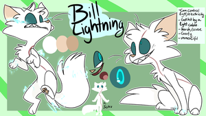 Bill Lighting character sheet by NoasDraws