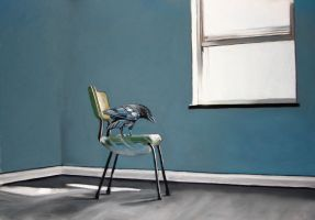 bird in a room by classina