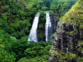 Waterfalls in Kauai Island by Furuhashi335