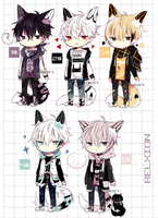 [AUCTION*CLOSED]Lineheart*45 by Relxion-kun