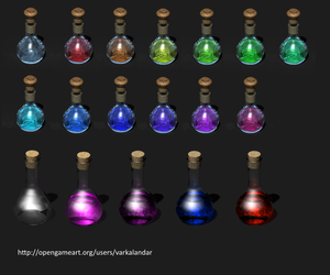 Flasks and Potions by Antarasol