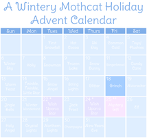 Mothcats Holiday Advent Calendar (CLOSED) by floramisa