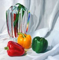 Capsicums and crystal by FredaSurgenor