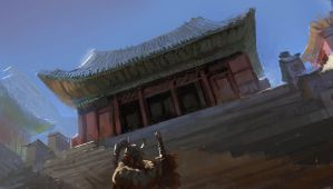 Korean Temple by paooo