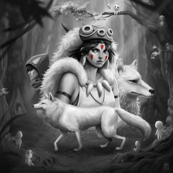 Princess Mononoke by SuperKaninja