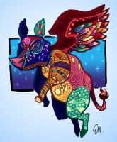 Flying Alebrije Pig by TheInsaneDingo