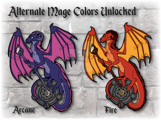 RPG Dragon Mage Alternate Colors by The-GoblinQueen